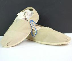 Toms Mens Size 11 Khaki Classic Canvas Slip On Casual Loafer