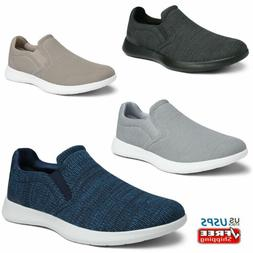 Mens Slip On Casual Shoes Comfort Knit Loafers Walking Shoe