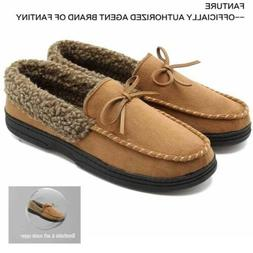 Mens Slip On Fur Lined Driving Moccasins Suede Comfort Loafe