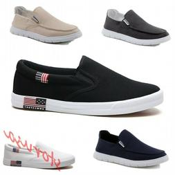 Mens Slip On Loafers Canvas Boat Shoes Flats Sneakers Drivin