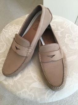 Clarks Mens Taupe Nubuck Loafers, Size 12, New
