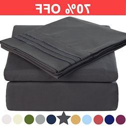 Microfiber Full Size Bed Sheet Set - Made Of 100% Brushed Mi