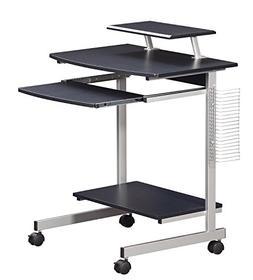 Mobile & Compact Complete Computer Workstation Desk. Color: