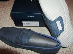 Cole Haan Motogrand Penny Mens Leather Loafer Shoes Navy NIB