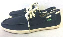 SANUK NAVY CASA BARCO SIDEWALK SURFER LACE-UP BOAT SHOES Loa