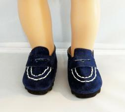 Navy Loafers Fits 18 inch American Girl Logan Dolls