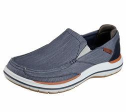 Skechers Navy shoes Men's Canvas Memory Foam Slip On Comfort