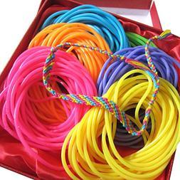 Adorox Neon Jelly Bracelets Rainbow Colors Party Favors Birt