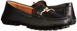 New COACH Arlene Turnlock Black Driver Moccasins Loafers Sho