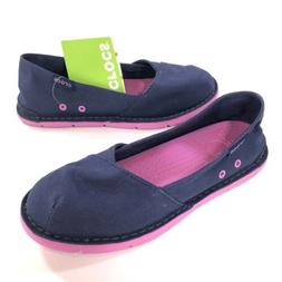 New CROCS Cabo Slip-on Loafers Shoes Juniors Girls Size 5 Bl