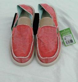 New SANUK  Donna Distressed Red Sidewalk Surfers Shoes SWF11