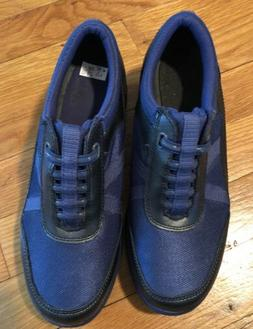 New Get Fit by Grasshoppers Blue Leather Fabric Women's Tenn