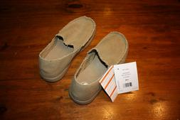 New CROCS Kaleb Loafers Slip-on Canvas BROWN Tan Shoes Men's