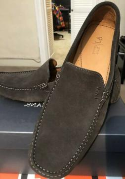 New ! Armani Jeans Mans Driving loafers . Brown Suede .Size