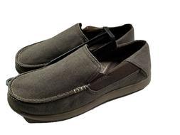 New Men's Crocs Santa Cruz 2 Luxe Loafer Slip-ons Canvas S