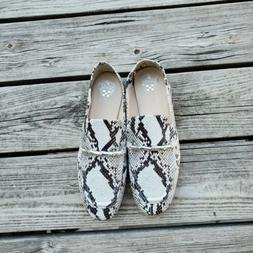 NEW Vince Camuto Perenna Seashell Tucson Snake Leather Flats