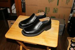 NEW  Skechers  Mens  Black Leather  Loafers  Size 10.5  10-1