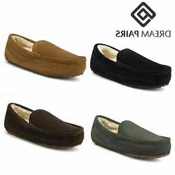 DREAM PAIRS New Soft Mens Au-Loafer Indoor Warm Moccasins Sl