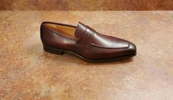 New! Magnanni 'Walden' Apron Toe Penny Loafers Brown Leather