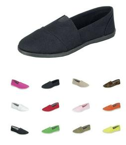 New women ballet flats slip on casual loafer canvas  shoes o
