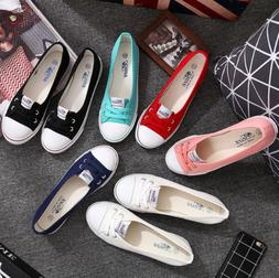 New Women Ladies Flat Lace Up Loafers Pumps Slip On Sneakers