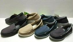New Women's Crocs WALU II Canvas Slip-on Loafers Comfort Sho