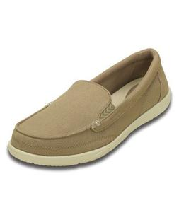 New Women's Crocs WALU II Canvas Slip on Loafers Shoes SZ 5