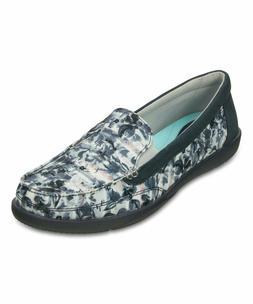New Women's Crocs Walu II Striped Floral Slip-on Loafers Sho