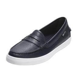 New COLE HAAN Womens NANTUCKET LOAFER Peacoat Blue Leather S