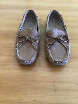 """NEW!! POLO RALPH LAUREN """"WYNDINGS"""" LEATHER DRIVER/LOAFERS, S"""