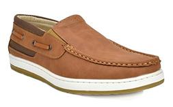 BRUNO MARC NEW YORK Men's Pitts_15 TAN/TAN Penny Loafers Moc
