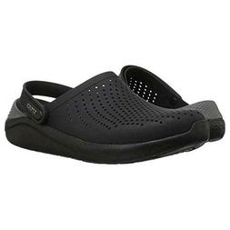 NIB MEN'S CROCS 204592 0DD LITERIDE CLOG BLACK/ SLATE GREY L