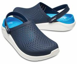 NIB MEN'S CROCS 204592 462 LITERIDE CLOG NAVY/WHITE LOAFER S
