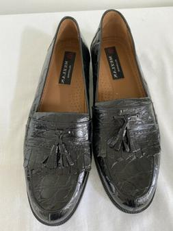 NWOB $795 Men's Black Crocodile Rodeo Loafers Shoes, 10.5