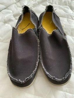 NWOB Crocs Santa Cruz Mens Loafers - Black, US 10