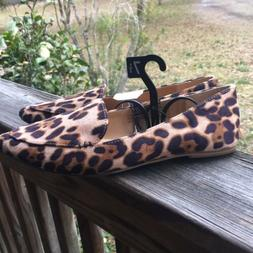 NWT Time and Tru Women's Loafers Flats Slip On Shoes Leopard
