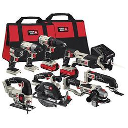 PORTER-CABLE PCCK619L8 20V MAX Lithium Ion 8-Tool Combo Kit