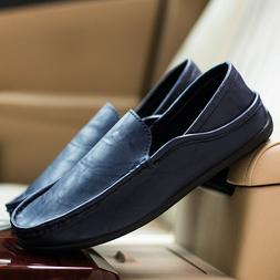 Peas Shoes Men's Summer Driving Shoes Casual Loafers Busines