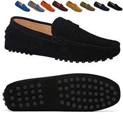 Go Tour Men's Penny Loafers Moccasin Driving Shoes Slip On F