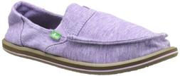 Sanuk Women's Pick Pocket Fleece Loafer,Purple,9 M US
