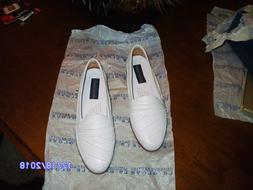 Giorgio Brutini Rare Mens Shoes Sz 9.5 EEE White Loafer Slip