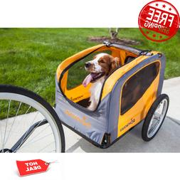 Rascal Bike Pet Trailer, Orange Gray For Small and Large Dog