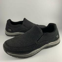 Skechers Relaxed Fit Expected Gomel Black Mesh Loafer Shoes