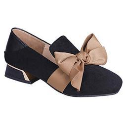 Respctful ❤ Women Leather Pumps Shoes Cute Bow Slip-On Loa