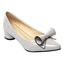 Respctful ❤ Women Pumps Shoes Leather Flats Slip On Bow Co
