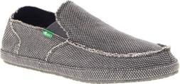 Sanuk Men's Rounder Slip On, Charcoal, 9 M US