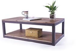 "Care Royal Vintage Industrial Farmhouse 43.3"" Coffee Table/A"