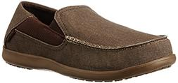crocs Men's Santa Cruz 2 Luxe M Slip-On Loafer, Espresso/Wal