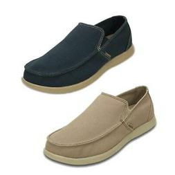 Crocs Santa Cruz Clean Cut Loafer Mens Sand Blue Slip On Sho