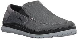 crocs Men's Santa Cruz Playa Slip-on Loafer,Graphite/Light G